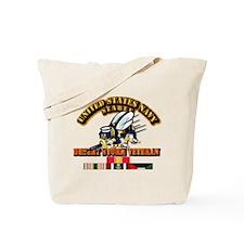 Navy - Seabee - Desert Storm Vet Tote Bag