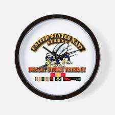 Navy - Seabee - Desert Storm Vet Wall Clock