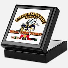 Navy - Seabee - Desert Storm Vet Keepsake Box
