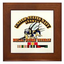 Navy - Seabee - Desert Storm Vet Framed Tile