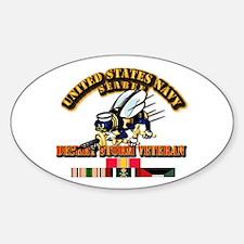 Navy - Seabee - Desert Storm Vet Decal