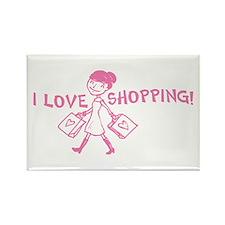 I Love Shopping Rectangle Magnet
