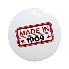 Stamped Made In 1909 Round Ornament