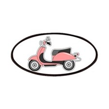 Cute Retro Scooter Pink Patches