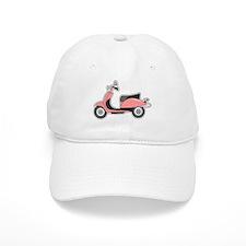 Cute Retro Scooter Pink Baseball Cap