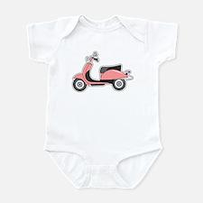 Cute Retro Scooter Pink Infant Bodysuit