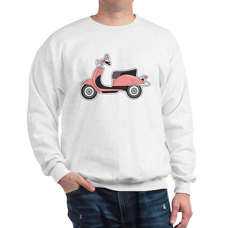 Cute Retro Scooter Pink Sweatshirt