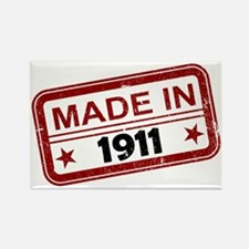 Stamped Made In 1911 Rectangle Magnet