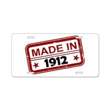 Stamped Made In 1912 Aluminum License Plate