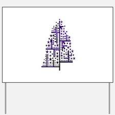 Christmas tree green of shapes mottled purple Yard
