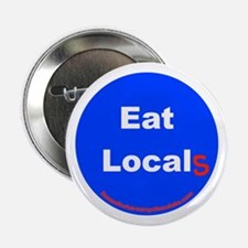 """Eat Local 2.25"""" Button"""