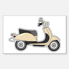 Cute Retro Scooter Sand Decal