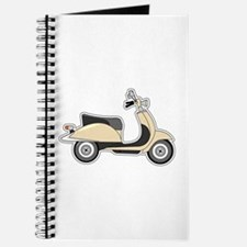 Cute Retro Scooter Sand Journal