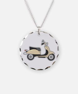 Cute Retro Scooter Sand Necklace