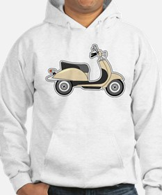 Cute Retro Scooter Sand Hoodie