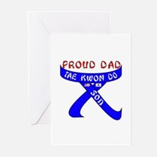 Proud Dad TKD Son Greeting Cards (Pk of 10)