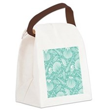 Vintage Seashell Pattern Canvas Lunch Bag