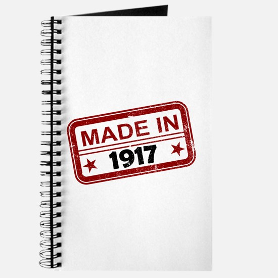 Stamped Made In 1917 Journal