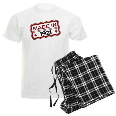 Stamped Made In 1921 Men's Light Pajamas