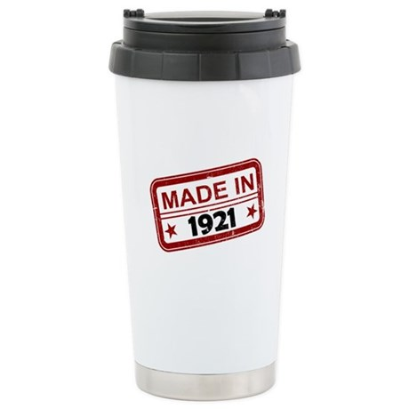 Stamped Made In 1921 Stainless Steel Travel Mug