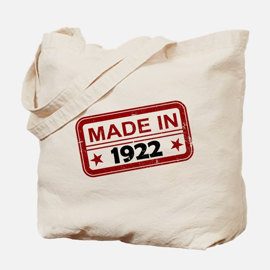 Stamped Made In 1922 Tote Bag