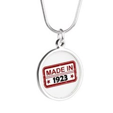 Stamped Made In 1923 Silver Round Necklace