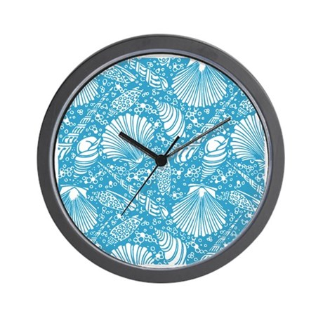 Vintage seashell pattern wall clock by listing store 14940502 for Seashell clock