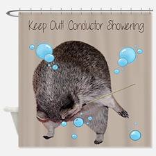 Raccoon Conductor Shower Curtain
