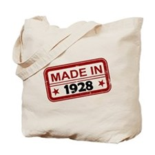 Stamped Made In 1928 Tote Bag