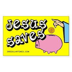 Jesus Saves Piggy Bank Bumper Decal