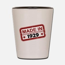 Stamped Made In 1929 Shot Glass
