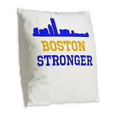 Boston Stronger Burlap Throw Pillow