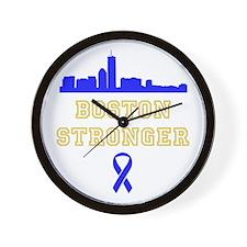 Boston Stronger Ribbon Wall Clock