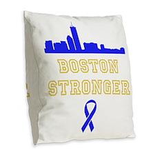 Boston Stronger Ribbon Burlap Throw Pillow