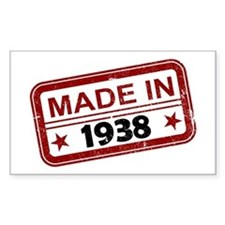 Stamped Made In 1938 Rectangle Decal