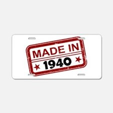 Stamped Made In 1940 Aluminum License Plate