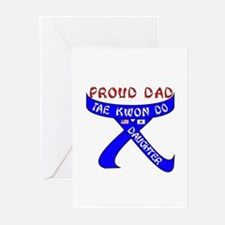 TKD Dad Daughter Greeting Cards (Pk of 10)