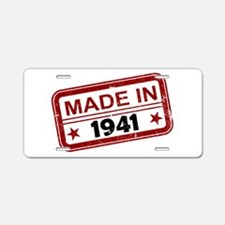 Stamped Made In 1941 Aluminum License Plate
