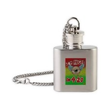 I'm High on Four-Twenty Flask Necklace