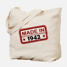 Stamped Made In 1942 Tote Bag