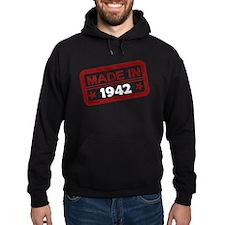 Stamped Made In 1942 Dark Hoodie