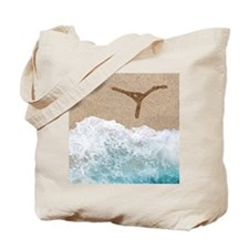 LETTERS IN SAND Y Tote Bag