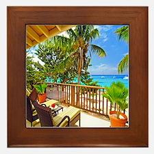 Tropical Delight Framed Tile