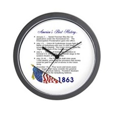 Timeline 1863 Wall Clock
