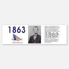 Timeline 1863 Bumper Bumper Sticker