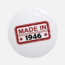 Stamped Made In 1946 Round Ornament