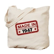 Stamped Made In 1947 Tote Bag