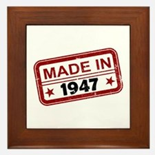 Stamped Made In 1947 Framed Tile