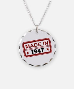Stamped Made In 1947 Necklace