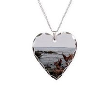 Sleeping giant Necklace Heart Charm